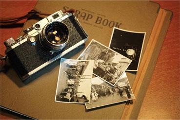 古びた写真とカメラ